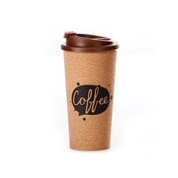 Hot selling biodegradable customized logo printing picking 350ml cork coffee mugs with lid