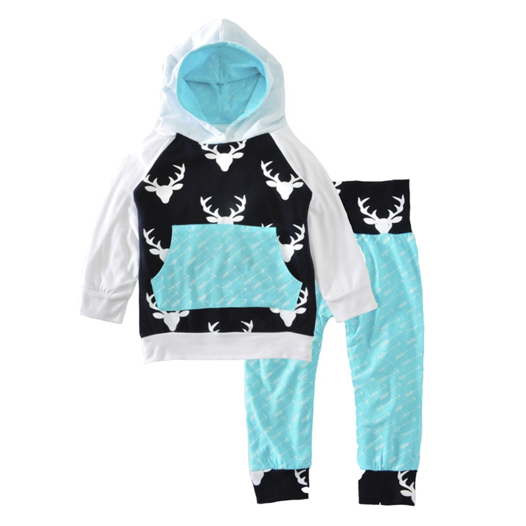 2 Pcs Boys Kids Hoodie Shirt Tops+ Long Pants Clothes Toddler Outfits Gentleman Set Lot