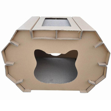 2018 New Fashionable Cardboard Cat Houses For Indoor & Outdoor Cats