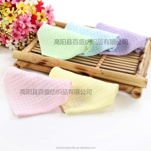 mesh wash bag 100% Bamboo cheap hanging waffle weave tea coffee hand baby wash cloth piece face finger tip towel gift set