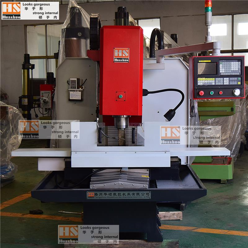 Small CNC milling machine xk7130, three-axis servo feed, pneumatic tool change