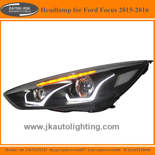 High Quality Super Bright LED Headlamp for Ford Focus Best Selling LED Headlights for Ford Focus 2015 2016