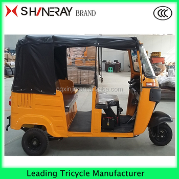 Hottest!!6 passenger covered three wheel motor tricycle gas scooter