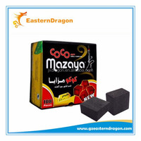 Smokeless Low Ash Al Fakher Coconut Shisha Charcoal, Coconut Shell Shisha Charcoal