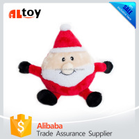 Holiday Brainey Santa Squeaky Plush Dog Toy