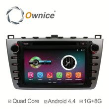Factory price quad core Android 4.4 up to android 5.1 car stereo for Mazda 6 with RDS