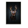 Christmas Deer Wall Picture Modern Animal Canvas Prints With Wood Frame Decoration Painting In Black Background