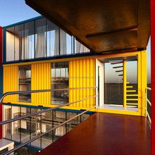 isolated flat pack container house