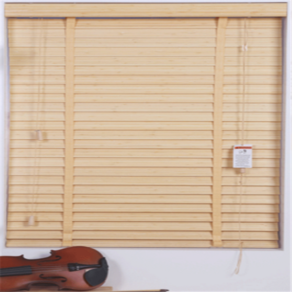 Window covering for home motorized Bamboo venetian blind