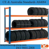 Nanjing gold supplier manufacturer cheap tire rack metal shelves storage for sale