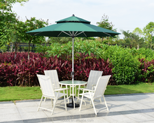 Outdoor Patio Umbrella Small Market Table Umbrella with Push Button Tilt Canopy