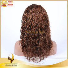 Honey Brown Colors Different Types of Synthetic Asian Women Hair Wig