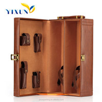 Luxury pu leather wine bottle box/case for sale