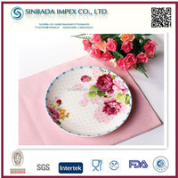 high quality porcelain plate decoration with full printing