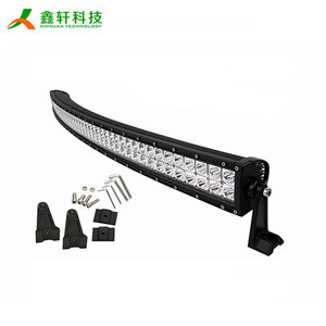"288W 24480LM 50"" waterproof flood spot combo beam lamp car curved led light bar"
