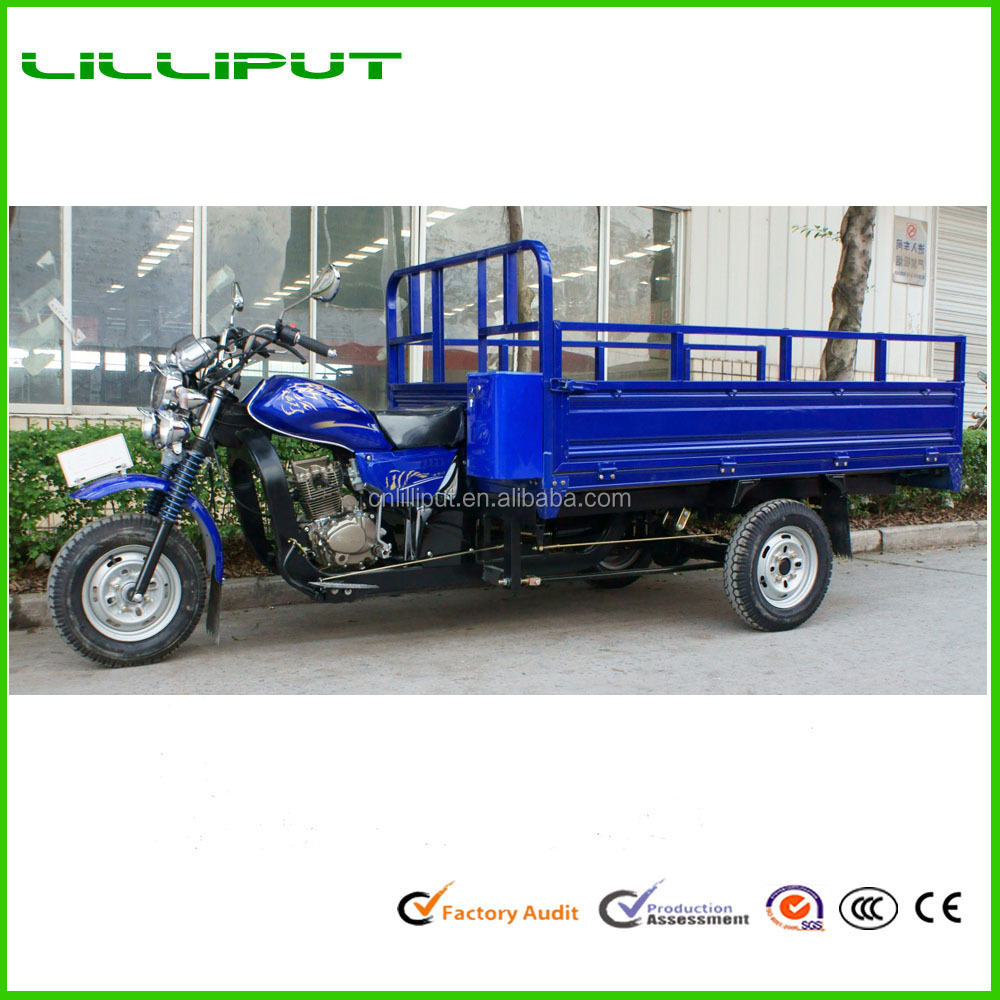 250CC Air Cooled 3-Wheel Long Cargo Truck Tricycle