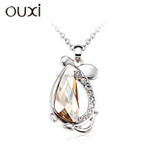 2016 OUXI cheap fake crystal necklace with silver color 10957
