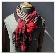 Woven crinkle viscose scarf for men in Spring/Autumn