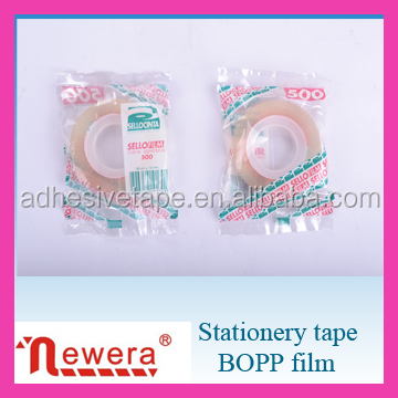 Transparent Bopp Adhesive Stationery Tape for office and school use