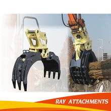 Excavator grapple bucket for PC200 PC300 PC400