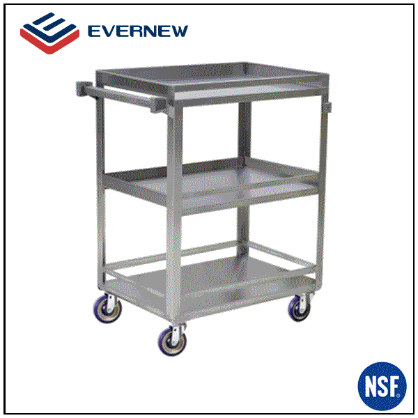 outdoor moving metal trolley cart with 4 wheels