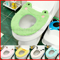 cute cartoon winter warm toilet seat cover wc product bathroom the thick toilet mat comfortable mats set seat pad potty cover