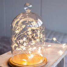 Best LED Star Copper Wire String Lights LED Fairy Lights Felt Christmas Decoration 2017 Battery Operate Twinkle Lights