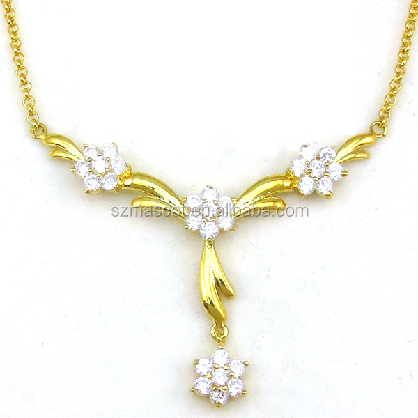 Custom Gold,Bride Charm Flower Shape Gold Plated Pendant Necklace Jewelry