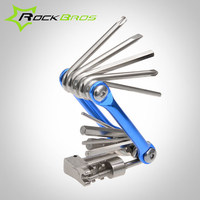 ROCKBROS Mini Combination Screwdriver Set Portable Pocket Bicycle Repair Tool Multi-function Mountain Road Bike Folding Tool