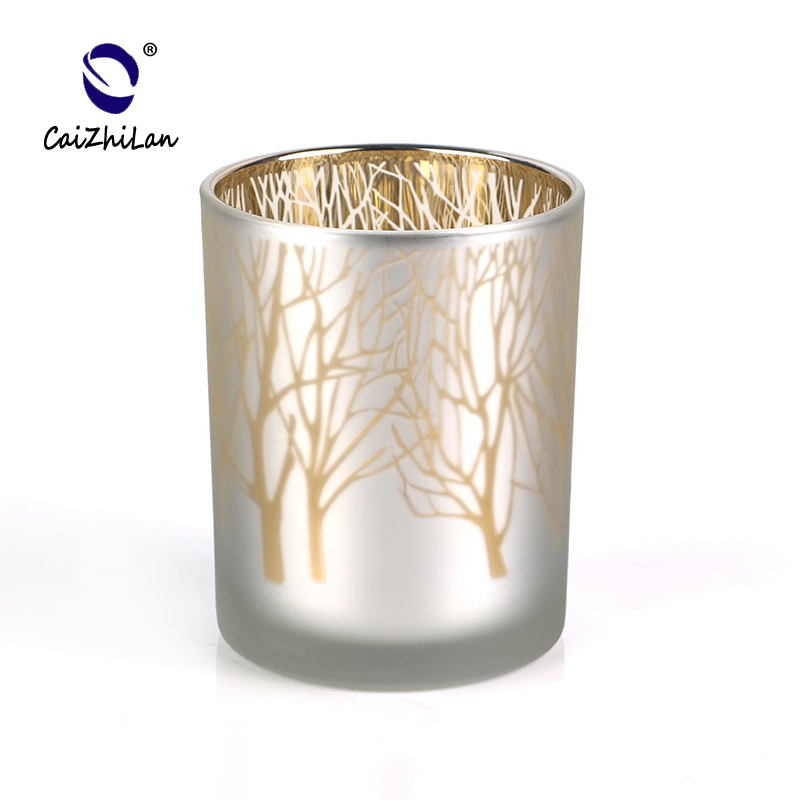 Frosted Candle Holder With Logo Design Candle Jar,Cheap Candle Holders,Glass Candle Stick  Holder