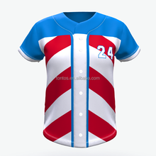 Mode baseball jersey muster benutzerdefinierte sublimation
