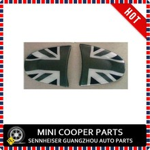 Brand New ABS Material UV Protected Black Union Jack Style Steering Wheel Cover Cheer Model For mini cooper R55 R56 (2 Pcs/ Set)