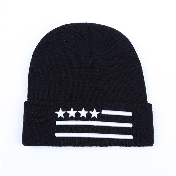 Latest product simple design 100% cotton beanie /knitted hat with competitive price