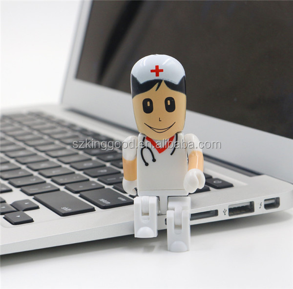 Nurse doctor shape usb flash driver 8gb 16gb 32gb usb 2.0 memory flash stick 64gb Drive