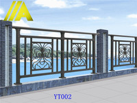 YT-002 2014 Top-selling modern wrought iron/metal/steel balcony railing designs
