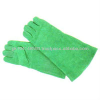 Parrot Green welding gloves, tough welding glove