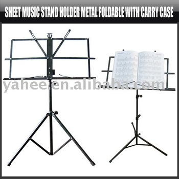 Sheet Music Stand Holder Metal Foldable with Carry Case,YHA-HG071
