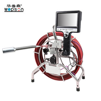 Self leveling plumbing inspection camera industrial videoscope with 512 hz transmitter