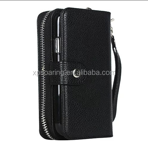 Zipper detachable wallet leather case for Samsung Galaxy S3 i9300