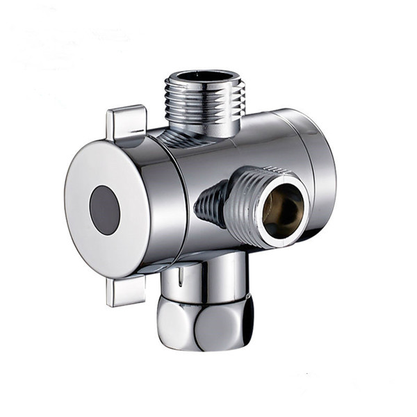<strong>G1</strong>/2'' Chrome Three Way T-adapter Shower Head Diverter Water Valve