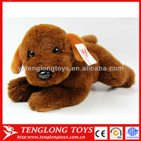 Super soft high quanlity factory OEM lovely puppy toys stuffed plush dog doll