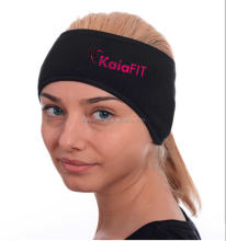 warm sports ponytail fleece Headband with reflective logo