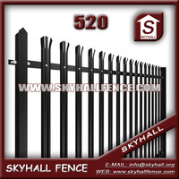 2015 Good Quality Powder Coated Garden decorative metal fence panels