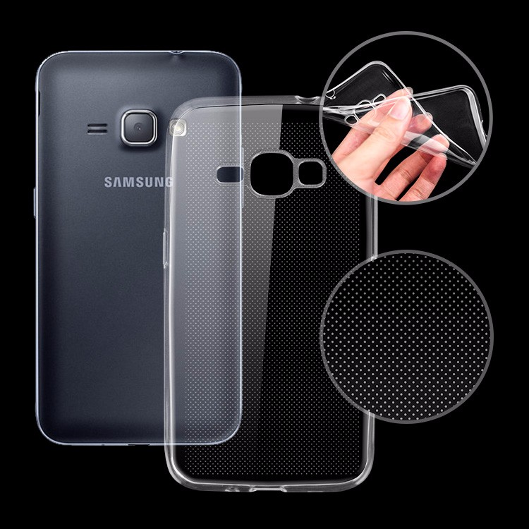 Clear Shell Slim Case Transparent Impact Resistant Flexible TPU Soft Case For Samsung Galaxy J1