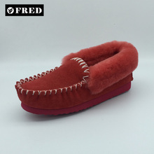 Luxury driving wool moccasin manufacture