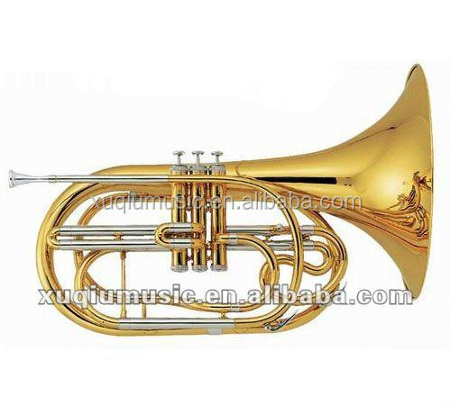 High Grade Bb Key Marching French Horn