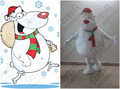 customized Christmas polar bear mascot costumes