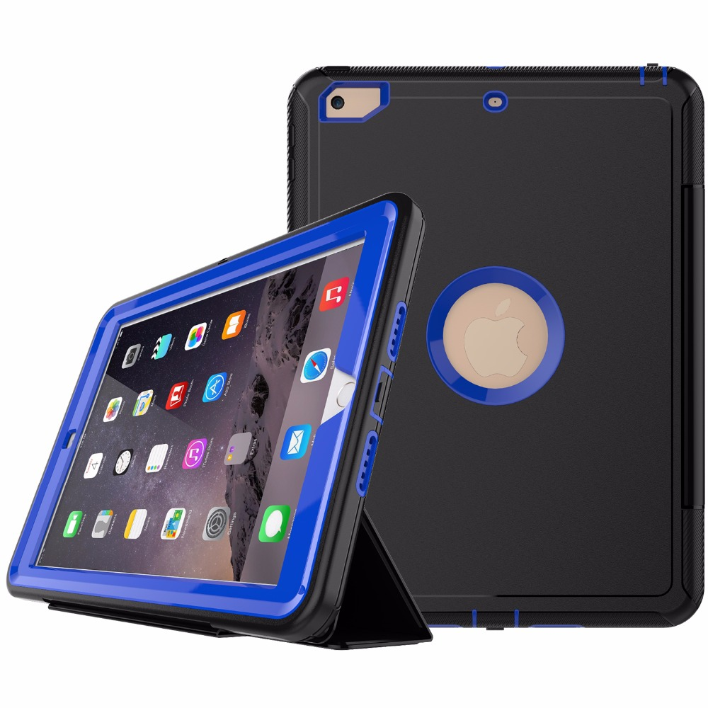 Full Body Protective Case for New iPad 9.7 Case Smart Cover for New iPad 9.7 2017 With Auto Sleep and Wake Function