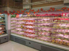 2000L grocery store open display multideck cabinet cooler