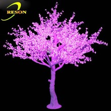 Party decorations purple artificial cherry tree christmas tree artificial tree led street lighting